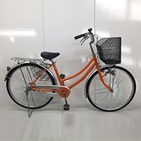 【自転車】【全国配送】軽快車 26インチ オレンジ【別送品】
