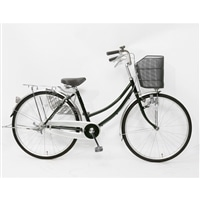【自転車】【全国配送】軽快車 26インチ ダークグリーン【別送品】