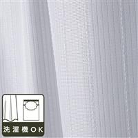 レースカーテン ストライプ ホワイト 100×198 2枚組