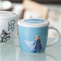 【数量限定】ふた付きマグカップ アナとエルサ