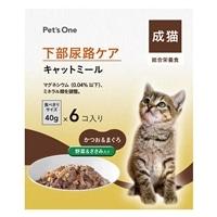 Pet'sOne キャットミール 下部尿路ケアパウチ 成猫用 40g 6個パック