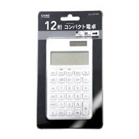 コンパクト12桁電卓 CA-124T (WH)