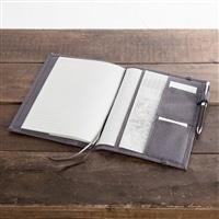 名刺やペンを収納できるノートカバーA5