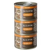 Pet'sOne キャットミール 丸ごとかつお ささみ入り 160g 3缶パック