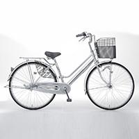 【自転車】【全国配送】KiLaLi パンクしにくい軽快車 内装3段 26インチ シルバー【別送品】
