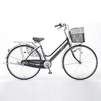 【自転車】【全国配送】KiLaLi パンクしにくい軽快車 内装3段 26インチ ブラック【別送品】