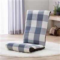 フリー座椅子カバー チェック ブルー