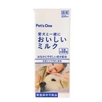 ペットと一緒においしいミルク 犬用 大豆イソフラボン入り 200ml