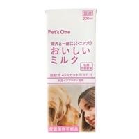 ペットと一緒においしいミルク 肥満・高齢犬用 大豆イソフラボン入り 200ml