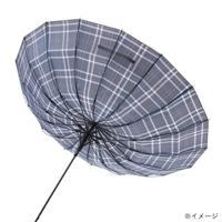 【数量限定】楽に戻せる風に強いJP傘70cmチェックGY