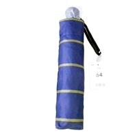 【数量限定】折傘64cmボーダーネイビー