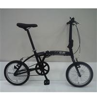 【自転車】【全国配送】折りたたみ自転車 COEUR�U(コユール�U) ブラック【別送品】