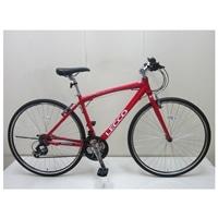 【自転車】クロスバイク LECCO(レッコ) 700C レッド【別送品】