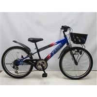 【自転車】【全国配送】ジュニアマウンテンバイク サンダーフォース�V 外装6段 20インチ ブルー/ブラック【別送品】