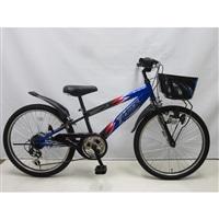 【自転車】【全国配送】ジュニアマウンテンバイク サンダーフォース�V 外装6段 24インチ ブルー/ブラック【別送品】