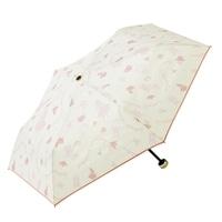 【数量限定】晴雨兼用折傘50cm アリスピンク/アイボリー
