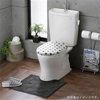 トイレフタカバー・マットセット 洗浄型 ドット