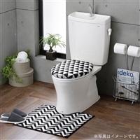 トイレフタカバー・マットセット 洗浄型 ギザギザ