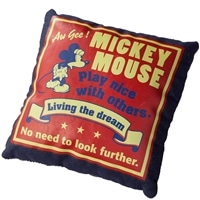デニム玩具 ミッキ—マウスレッド
