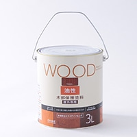 WOOD油性木部保護塗料(丸缶)  3L マホガニー
