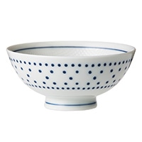 ごはんがつきにくい茶碗 小 水玉