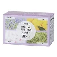 CAINZ 炭酸ガスの薬用入浴剤 40g×20錠 4つの香り(ゆず・森・さくら・ラベンダー)