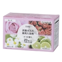 CAINZ 炭酸ガスの薬用入浴剤 40g×20錠 4つの香り(ローズ・チャームローズ・カモミール・ベルガモット)