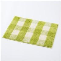 【数量限定】さらっと快適 タオルバスマット 45×65 チェックグリーン