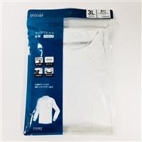 【数量限定】スピードドライ ワークTシャツ ハイネック PC WH 3L