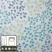 ボイルレースカーテン ガーデン グリーン 200×228 1枚入