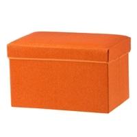 N8 収納スツール ワイド オレンジ