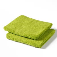 ふんわりハンドタオル2枚組 グリーン