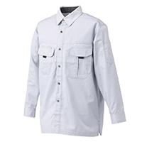 丈夫な作業シャツ シルバー 3L
