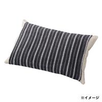 のびのびタオル枕カバー  グレー 35×55(ストライプ筒型)