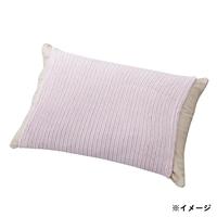 のびのびタオル枕カバー パープル 35×55(ストライプ筒型)