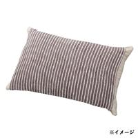 のびのびタオル枕カバー ブラウン 35×55(ストライプ筒型)