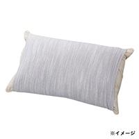 のびのびニット枕カバー グレー 35×55(筒型)