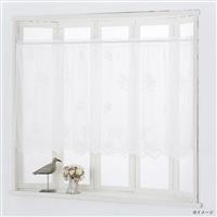 カフェカーテン ホワイトローズ 幅150×丈75cm