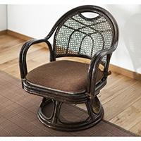 【SU】籐回転座椅子 (ミドルタイプ)