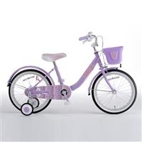 【自転車】【全国配送】補助輪付き子供用自転車 Jewel Box�V(ジュエルボックス�V) 18インチ パープル【別送品】
