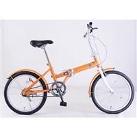 【自転車】【全国配送】折りたたみ自転車 Ville(ヴィレ) オレンジ【別送品】
