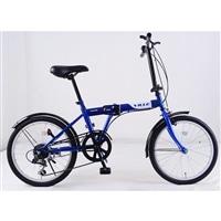 【自転車】【全国配送】折りたたみ自転車 Ville(ヴィレ) 外装6段 ネイビー【別送品】
