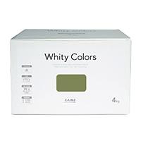 【Web限定】CAINZ 室内用塗料 ホワイティカラーズ 4kg 鶯【別送品】