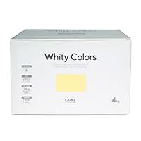 【Web限定】CAINZ 室内用塗料 ホワイティカラーズ 4kg アプリコットライト【別送品】