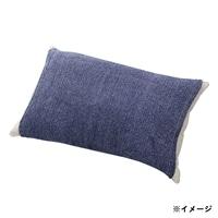 のびのびタオル枕カバー ネイビー 35×55(筒型)