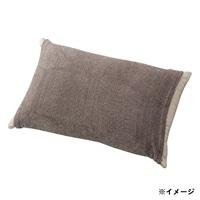 のびのびタオル枕カバー ブラウン 35×55(筒型)