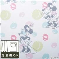 ディズニー レースカーテン ミニーマウス 100×108cm 2枚組【別送品】
