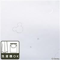 ディズニー レースカーテン ミッキーマウス ブラック 100×133cm 2枚組【別送品】