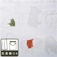 ディズニー レースカーテン くまのプーさん 100×175cm 2枚組【別送品】