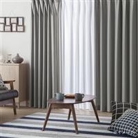 【数量限定】4枚組セットカーテン(遮光+遮熱ミラー)ヴェントスライン 100×110cm